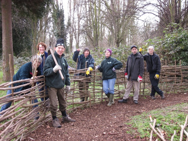 Creating fencing in Ladywell and Brockley Cemetery