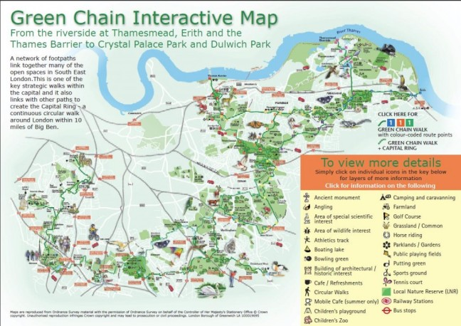 Greenchain walk map