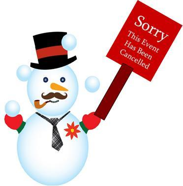 Cancelled snowman