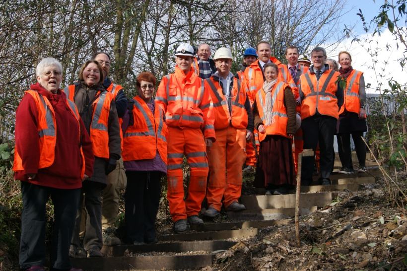 The Friends were joined by Cllr Jeffrey, Cllr Wise and representatives from Morgan Sindall and Network Rail