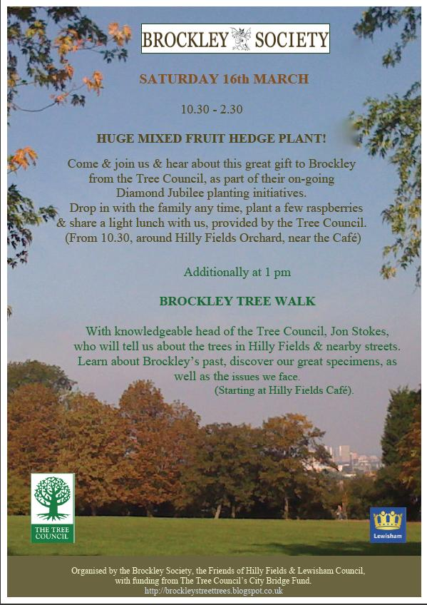 Join in with some fruit hedge planting or maybe just a tree walk!