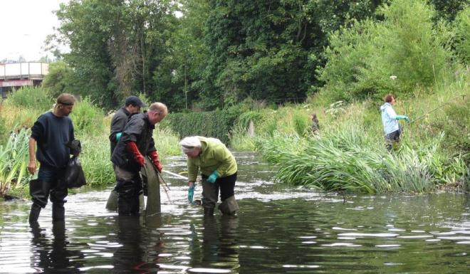 The 3 Rivers Clean Up in Cornmill Gardens