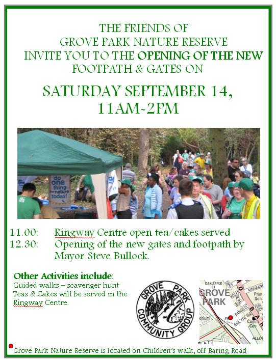 Grove Park nature reserve open day