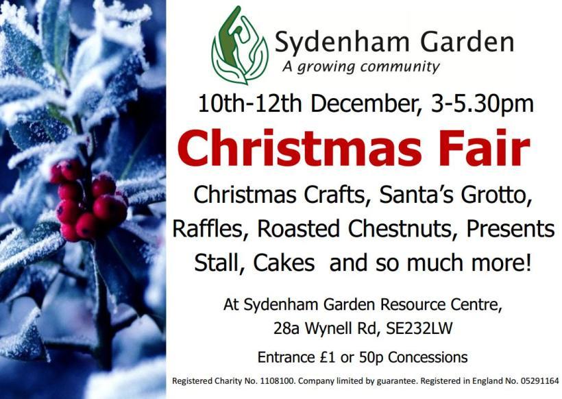 Sydenham Gardens Christmas Fair