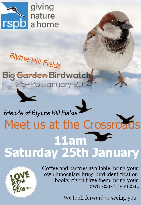 Blythe Hill Fields bird watch