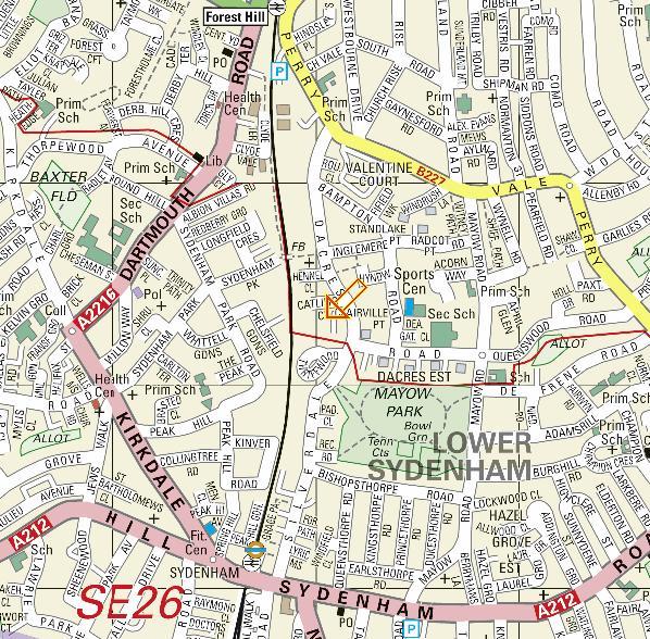 Dacre wood street AZ map