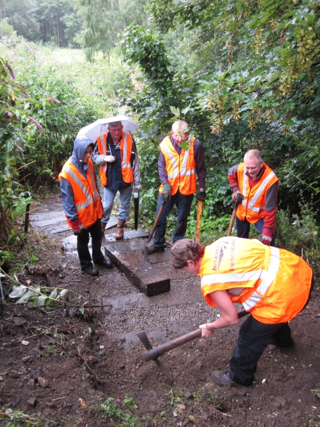Building steps at Hither Green Triangle