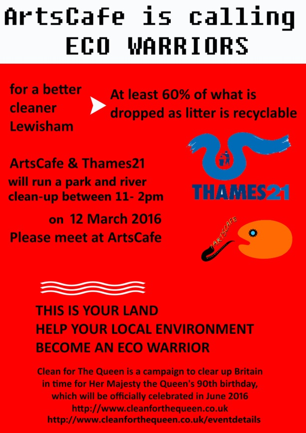 Join the Arts Cafe and Thames21 in Manor Park