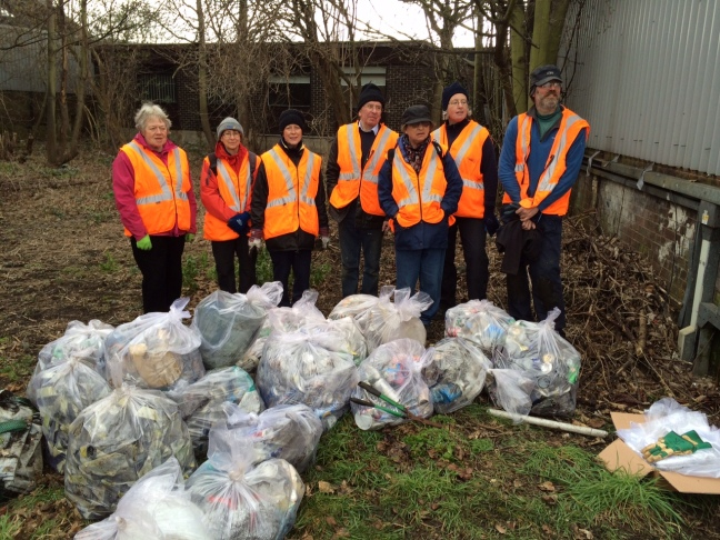 22 bags of rubbish were collected