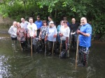 DWP group in the river Ravensbourne