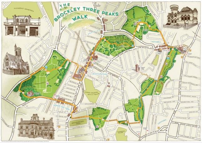 3 Peaks Map (www.fullcircle-design.co.uk)